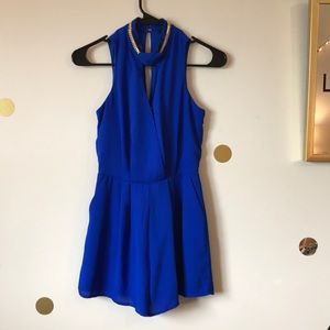 Royal blue romper. Size extra small.